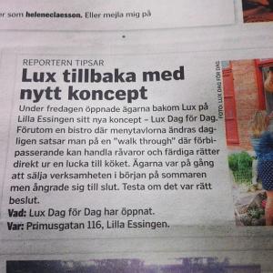 I Vårt Kungsholmen nu #luxdagfordag