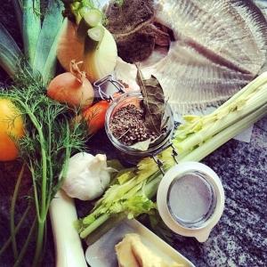 Fiskfond på gång, 15kr/dl Linguine med kyckling, svamp och parmesan 85kr i #walkthrough