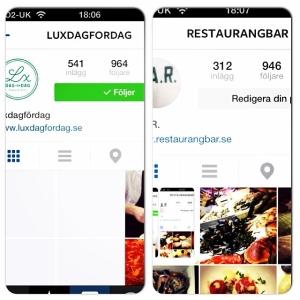 Ledsen @restaurangbar men det ser ut som vi vinner! Som sagt, må bästa instagram konto komma först till 1000 följare. #lux #bar #luxdagfordag #restaurangbar @restaurangbar