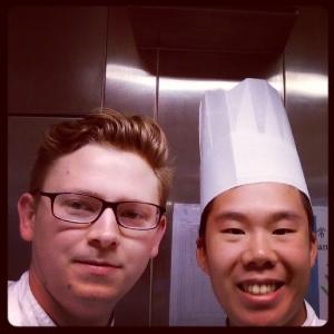 Chef Wilson och restaurang chef Dyberg. @ Icon hotel Hong Kong