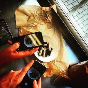 Idag har vi provlagning inför Farmers Dinner nästa vecka 17/9, dokumentation är A & O #luxdagfördag #ängsöfisk #warbrokvarn #näsuddenshandelsträdgård  #råvarantalar