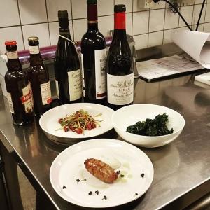 Mat och vinprovning inför farmers dinner på torsdag 29/10