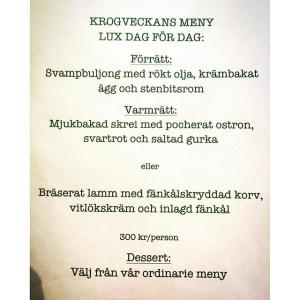 Till och med nu på fredag kör vi krogmeny, boka via bookatable #luxdagfördag #svamp