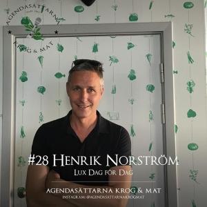 En av Lux Dag för Dags grundare och kock, Henrik Norström, gästade podcasten Agendasättarna Krog & Mat @agendasattarnakrogmat . Missa inte att lyssna på avsnittet som handlar om kocktävlingar, Lilla Essingen och mycket annat.